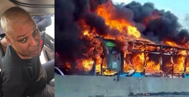 Scuolabus in fiamme e l'attentatore senegalese