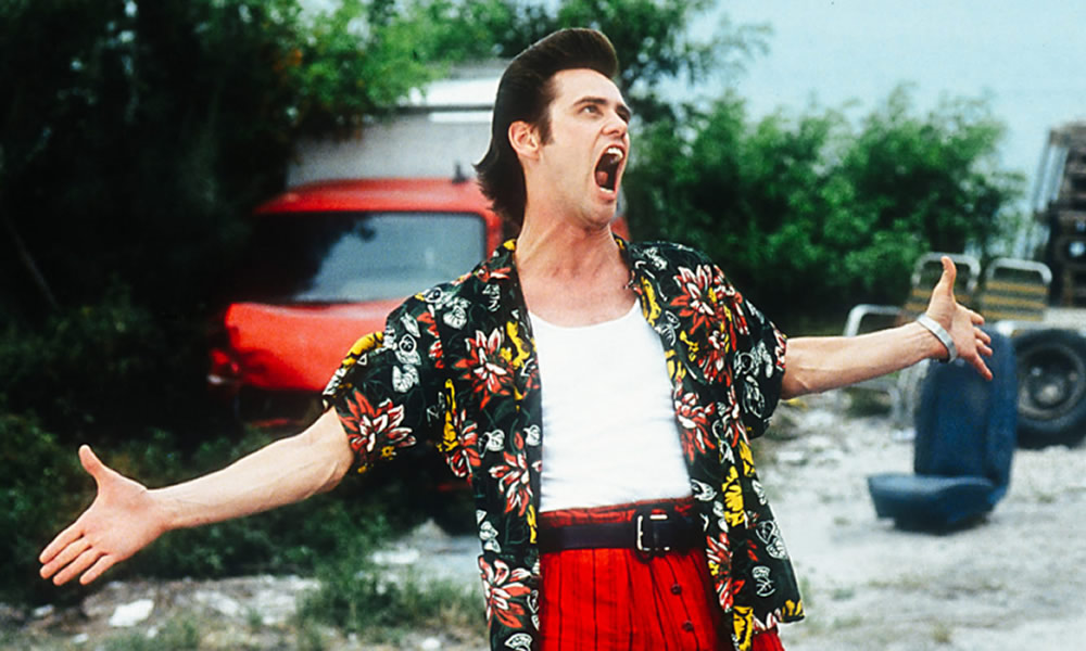 jim carrey in ace ventura l'acchiappanimali