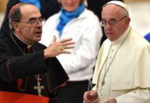Papa Francesco con il cardinale Barbarin