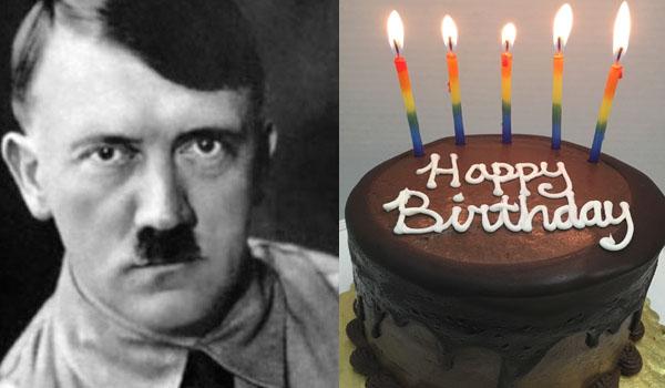 hitler e una torta di compleanno