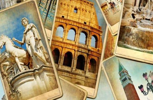 vari simboli della cultura italiana