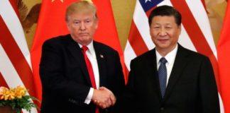 Il presidente Usa Trump e il presidente Cinese Xi