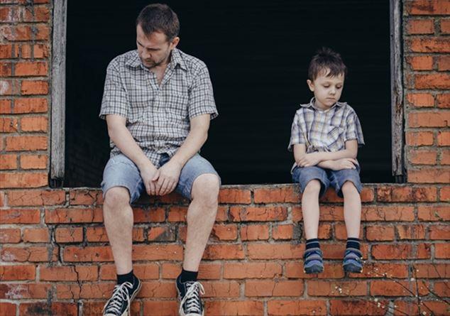 Papà e figlio avendo gay sesso