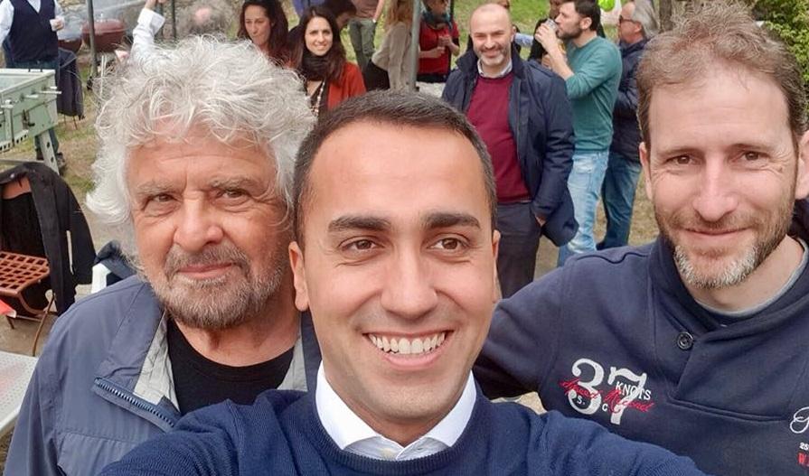 Beppe Grillo, Luigi Di Maio e Davide Casaleggio