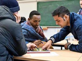 immigrati durante un corso di integrazione in Germania