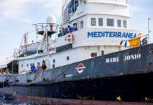 La nave Mare Jonio dell'Ong Mediterranea