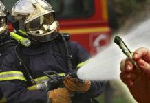 pompieri innaffiano canna