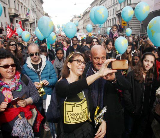 Marcia antirazzista a Milano