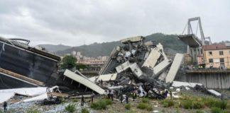 I resti del Ponte Morandi, crollato a Genova il 14 agosto scorso