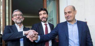 I candidati alla segreteria Pd: Martina, Zingaretti e Giachetti