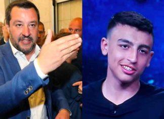 Il vicepremier Salvini e il piccolo Ramy