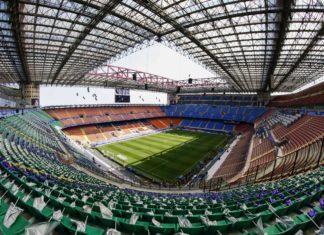 Lo stadio di Milano Giuseppe Meazza in San Siro