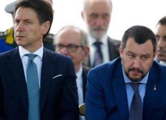 Il premier Giuseppe Conte e il vicepremier Matteo Salvini