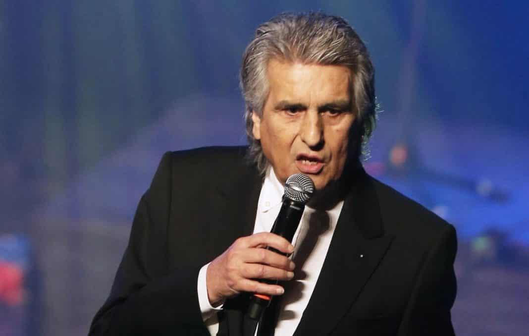 Il cantante italiano Toto Cotugno