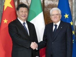 Il presidente cinese Xi Jinping e il capo dello Stato Sergio Mattarella