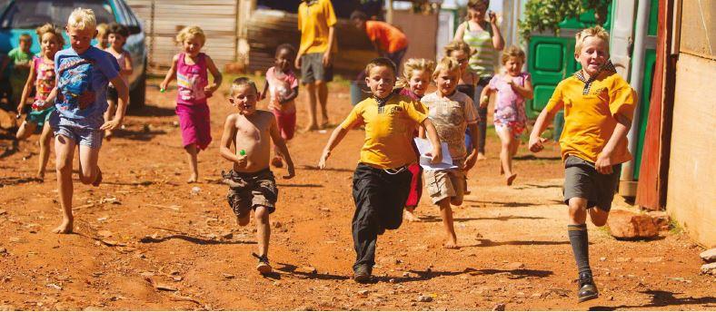 Bambini boeri in Sudafrica