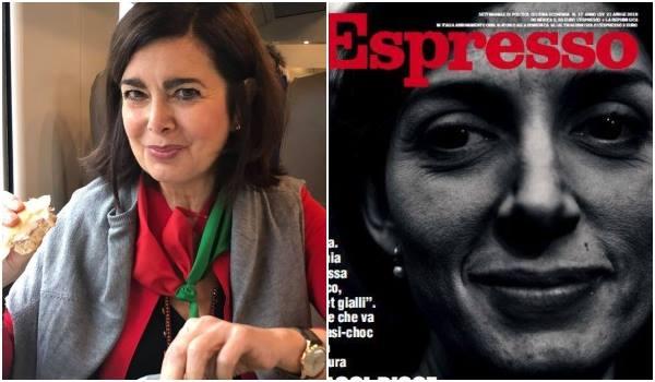 La Boldrini e la copertina dell'Espresso con la Raggi