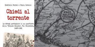 copertina di chiedi al torrente e cartina d'epoca di genova