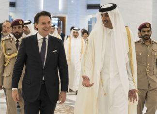 il premier conte con l'emiro del qatar