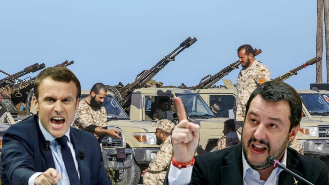 Il presidente francese Macron e il vicepremier Salvini