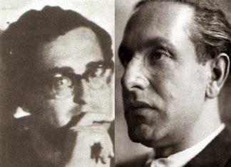 Fotomontaggio con Adriano Romualdi e Julius Evola