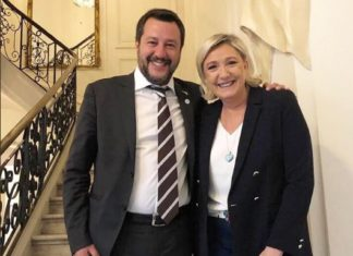 Matteo Salvini e Marine Le Pen