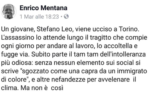 mentana said stefano leo