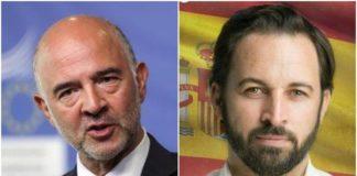 Moscovici e Abascal, leader di Vox