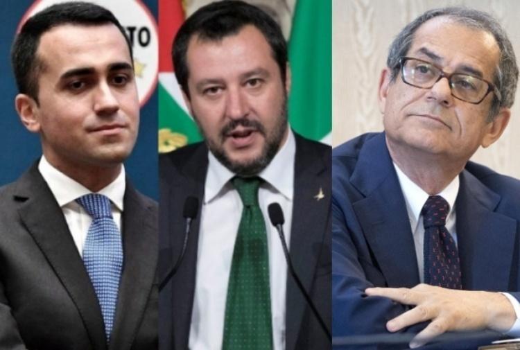 Di Maio Salvini e Tria