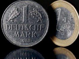 Monete da un marco e un euro