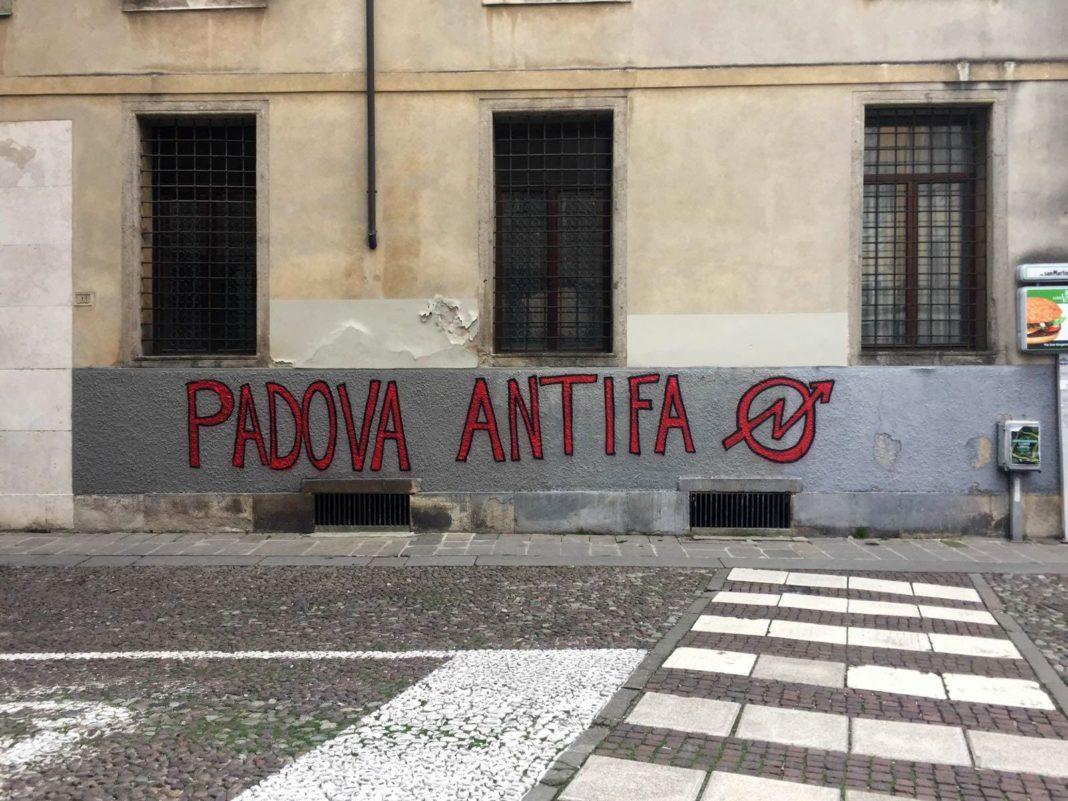 padova, scritta antifascista