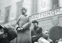 Mussolini insieme a Pavolini