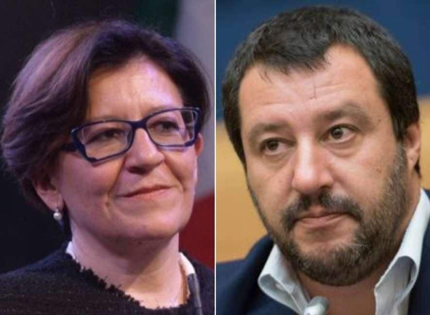Il ministro della Difesa Trenta e il ministro dell'Interno Salvini