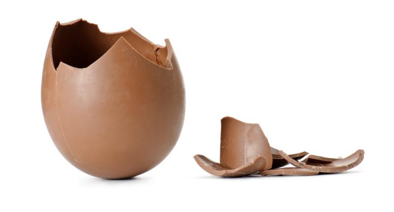 uovo di pasqua rotto