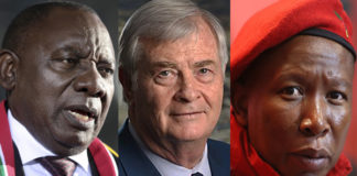 Alcuni leader politici sudafricani