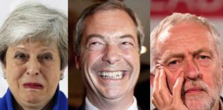 Farage May Corbyn