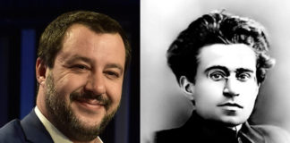 Matteo Salvini e Antonio Gramsci