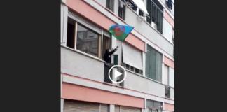 La madre rom di Casal Bruciato sventola la bandiera