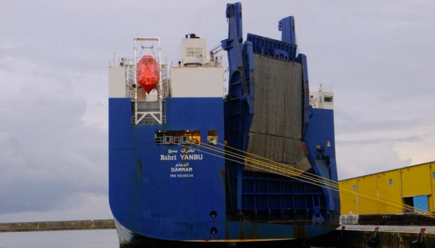 cargo bahri yambu attraccata
