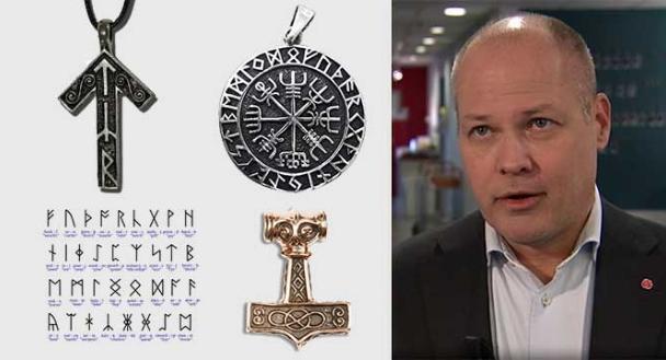Alcuni gioielli con le rune e il ministro svedese Johansson