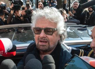 Beppe Grillo garnate del movimento 5 Stelle