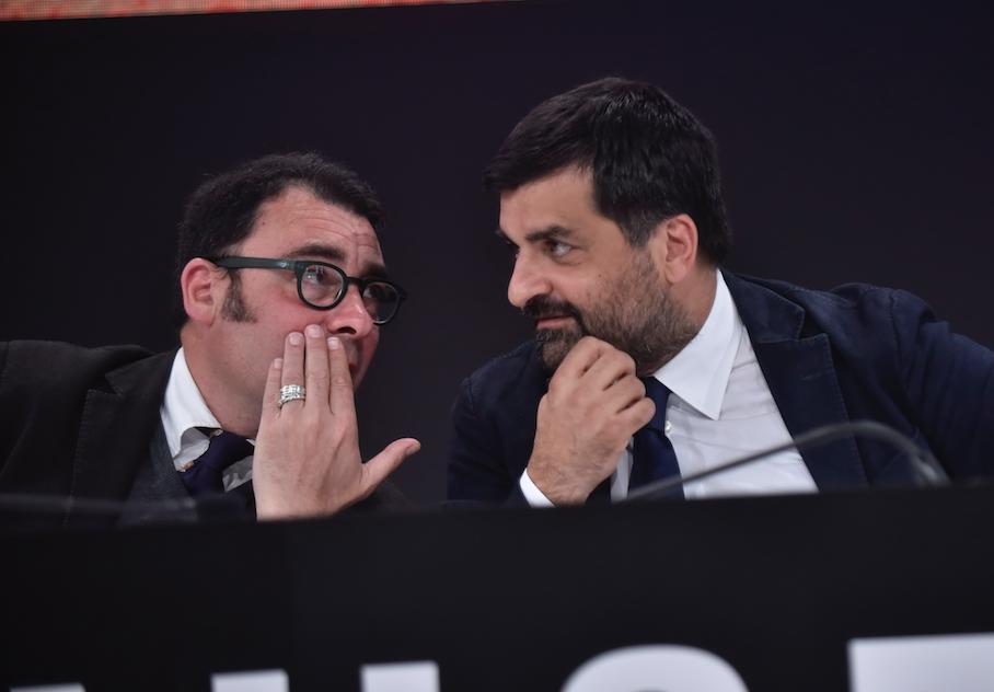 Luca Palamara con il pm Eugenio albamonte