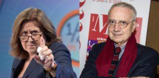 Gli intellettuali di sinistra Lucia Annunziata e Paolo Flores D'Arcais