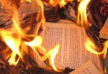 libro che brucia
