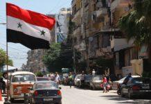 siria, bandiera in città