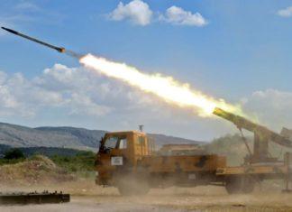 lancio di missili in siria
