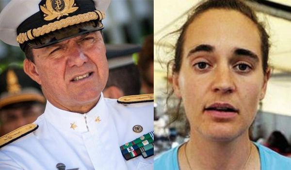 L'ammiraglio De Felice e la capitanal della Sea Watch