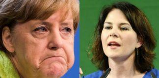 Angela Merkel e Annalena Baerbock