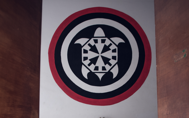 Il simbolo di CasaPound la tartaruga frecciata