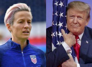 Donald Trump e Megan Rapinoe